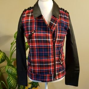 Hurley plaid quilted jacket size medium